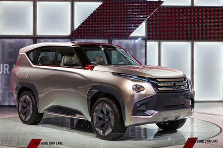 Chicago - February 13: A Mitsubushi concept SUV on display February 13th, 2015 at the 2015 Chicago Auto Show in Chicago, Illinois.
