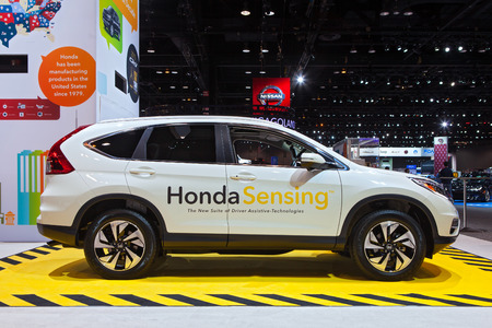 Chicago - February 13: A Honda Sensing vehicle on display February 13th, 2015 at the 2015 Chicago Auto Show in Chicago, Illinois.