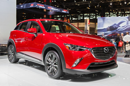 Chicago - February 13: A Mazda CX-9 on display February 13th, 2015 at the 2015 Chicago Auto Show in Chicago, Illinois.