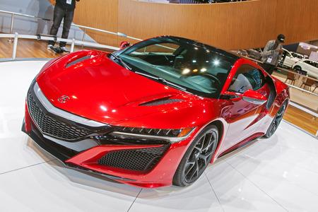 acura: Chicago - February 13: An Acura NSX on display February 13th, 2015 at the 2015 Chicago Auto Show in Chicago, Illinois.
