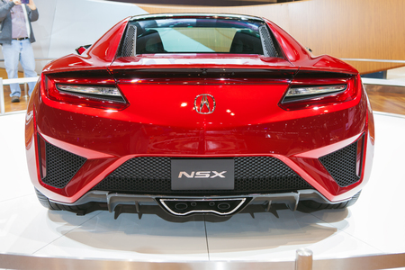 Chicago - February 13:Rear view of an Acura NSX February 13th, 2015 at the 2015 Chicago Auto Show in Chicago, Illinois. Editorial