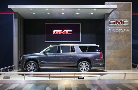 Chicago - February 13: A GMC Yukon XL Denali on display February 13th, 2015 at the 2015 Chicago Auto Show in Chicago, Illinois.