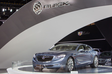 Chicago - February 12: The Buick Avenir Concept on display February 12th, 2015 at the 2015 Chicago Auto Show in Chicago, Illinois. Editöryel