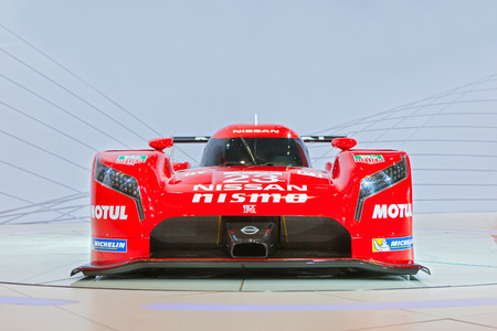 Chicago - February 12: The debut of the Nissan GTR Nismo Racing Car February 12th, 2015 at the 2015 Chicago Auto Show in Chicago, Illinois. Editorial