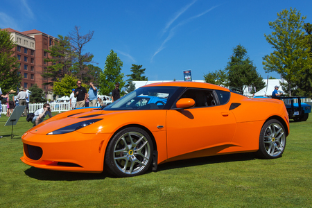 plymouth: PLYMOUTH - JULY 26: A Lotuse Espirit supercar on display July 26, 2015 at the Councors DElegance in Plymouth, Michigan.