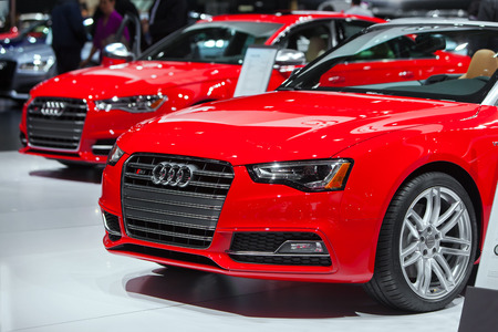american media: DETROIT - JANUARY 13: The Audi S6 at the North American International Auto Show media preview January 13, 2016 in Detroit, Michigan. Editorial