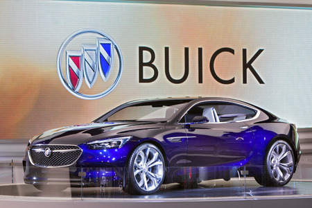 DETROIT - JANUARY 13: The Buick Avista Concept on display at the North American International Auto Show media preview January 13, 2016 in Detroit, Michigan. Stok Fotoğraf - 55123744