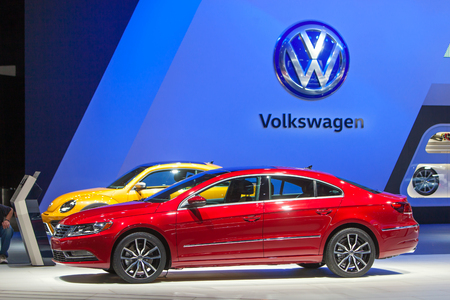 DETROIT - JANUARY 13: A 2016 Volkswagen Passat on display at the North American International Auto Show media preview January 13, 2016 in Detroit, Michigan.