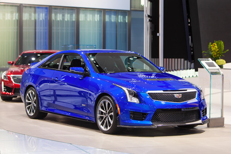 american media: DETROIT - JANUARY 13: The 2017 Cadillac ATS Sedan on display at the North American International Auto Show media preview January 13, 2016 in Detroit, Michigan. Editorial