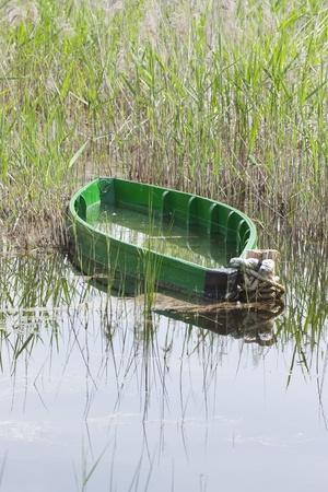 aquifer: Boat in Tablas de Daimiel, Spain