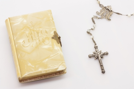 Firts Communion Book and Rosary photo