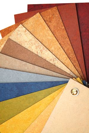 linoleum: The samples of natural linoleum located a fan