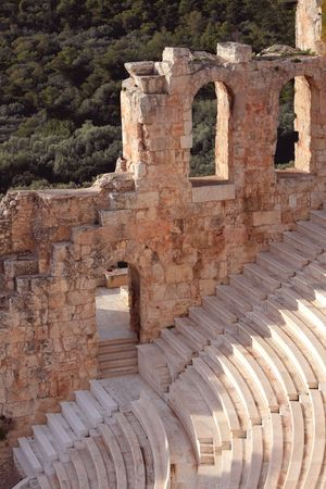 amphitheatre: Ruins of ancient amphitheatre are in Greece Stock Photo