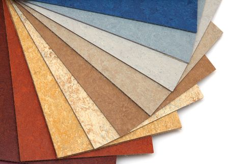 The samples of linoleum located a large fan Stock Photo - 6380611