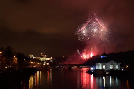 shined: Over Prague Castle shined 1 January 2015 New Year