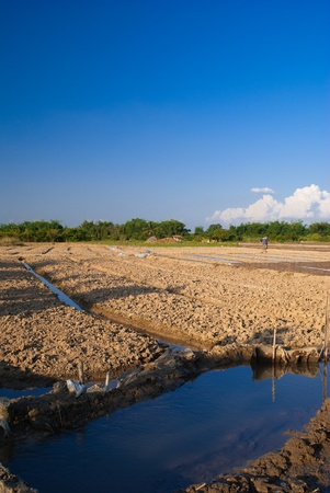 agricultural area: sending water reaches agricultural area in Thailand