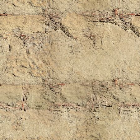 tileable: Old stone wall tileable texture, can be repeated seamlessly. Stock Photo