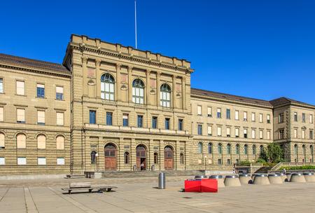 Zurich, Switzerland - 20 July, 2016: Swiss Federal Institute of Technology in Zurich building. Swiss Federal Institute of Technology in Zurich (German: Eidgenossische Technische Hochschule Zurich or ETH) is a science, technology, engineering, mathematics