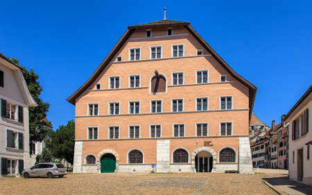 armaments: Solothurn, Switzerland - 10 July, 2016: Old Arsenal Museum (German: Museum Altes Zeughaus) building. The museum has one of the largest in Switzerland collections of the historic weapons and armaments. Editorial
