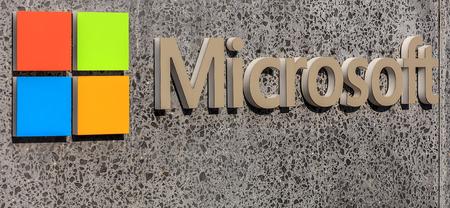 signage outdoor: Wallisellen, Switzerland - 28 August, 2016: Microsoft logotype on a stele near the Microsoft Switzerland company office. Microsoft is a multinational technology company, headquartered in Redmond, Washington.
