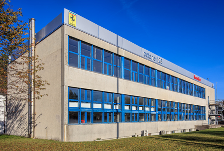 ag: Wallisellen, Switzerland - 30 October, 2016: octane 126 company building. octane 126 AG is a company, which provides official Ferrari and Maserati car service. Editorial