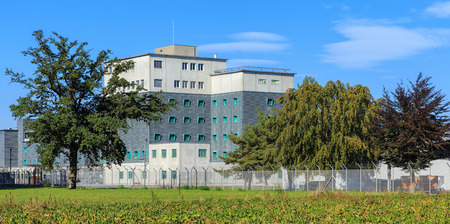 remand: Kloten, Switzerland - 29 September, 2016: the Zurich Airport Prison. Zurich Airport Prison (German: Flughafengefangnis) is an extradition and remand prison, located in the territory of the Zurich Airport. Editorial