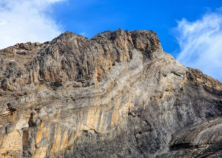 A rock in the Swiss Alps, the picture was taken on Mt. Titlis - a mountain, located on the border between the Swiss cantons of Obwalden and Bern.
