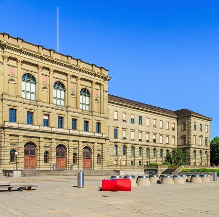 Zurich, Switzerland - 20 July, 2016: the main building of the Swiss Federal Institute of Technology in Zurich. Swiss Federal Institute of Technology in Zurich (German: Eidgenossische Technische Hochschule Zurich or ETH) is a science, technology, engineeri