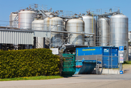 Hedingen, Switzerland - April 19, 2019: facility of the KLK Kolb company. The KLK Kolb manufactures surfactants, paper process chemicals and other chemical specialties, it is a part of the KLK OLEO group of companies. The site in Hedingen was founded in 1 Editorial