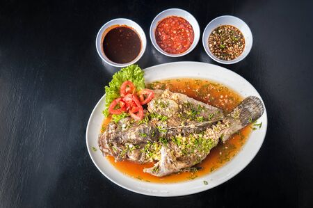 plato de pescado: Platillo de pescado