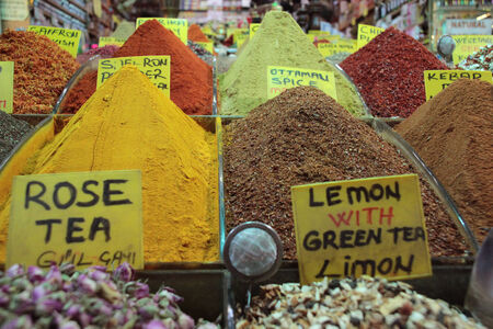 Spices in an Istanbul bazar photo