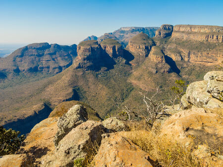 Scenic view of the Three Rondavels, South Africa photo