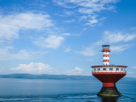 Haut-Fond Prince Lighthouse, Quebec, Canada 免版税图像