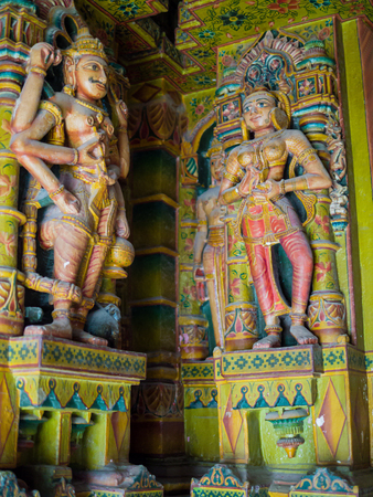 bikaner: Colorful Sculptures in Bhandasar Jain Temple, Bikaner, India Editorial