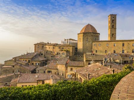 volterra: Panoramic view of Volterra Tuscany Italy