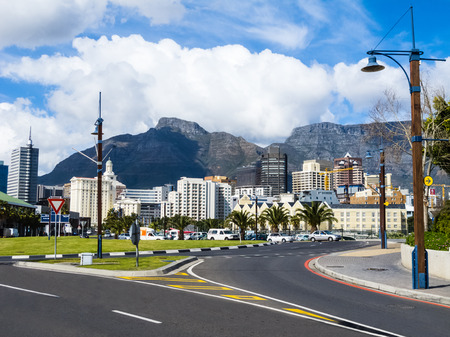 Cape Town skyline with Table Mountain in the background, South Africa