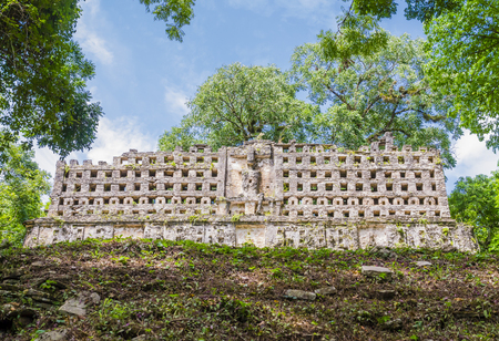 King Palace in Yaxchilan ancient mayan ruins, Chiapas, Mexico