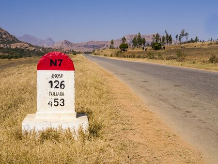 Madagascar, stunning view of Route Nationale 7 (RN7), legendary road running from Antananarivo to Tulear