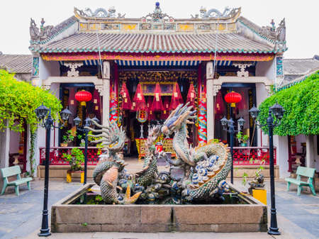 Stunning view of Quang Trieu (cantonese) assembly hall, one of the most famous temple in Hoi An  old town, Vietnam