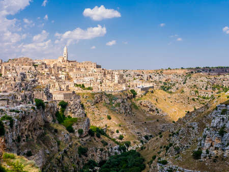 Stunning view of the ancient town of Matera and its spectacular canyon, Basilicata region, southern Italy Reklamní fotografie
