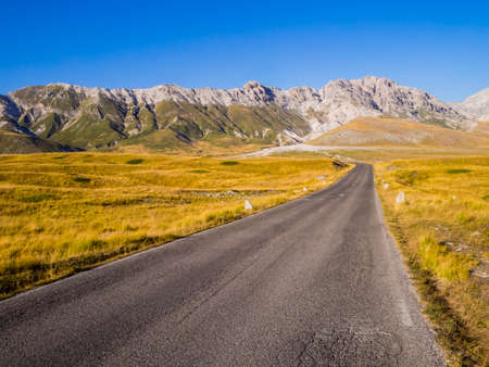 Stunning road through Campo Imperatore, Gran Sasso National Park, Abruzzo region, Italy Reklamní fotografie