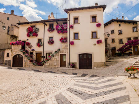 Stunning view of Pescocostanzo, the village of flower with typical architecture of the houses, Abruzzo, central Italy Reklamní fotografie