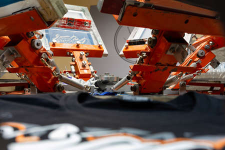 Printing images on t-shirts in a design studio