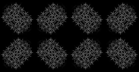 banner: geometric pattern abstract illustration. monochrome digital decor creative background