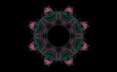 geometric pattern abstract illustration. vivid digital decor creative background