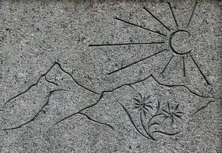 luft: Kreuz,Grab,Leben,Tod,Gestorben,Rose Grabrose,Grabrede,Berge,Sonne,Wasser,Luft Stock Photo