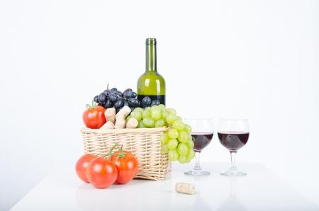 wino: Wino i winogrona, Wino i winogrona Stock Photo