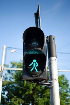 Traffic lights on the street   green photo