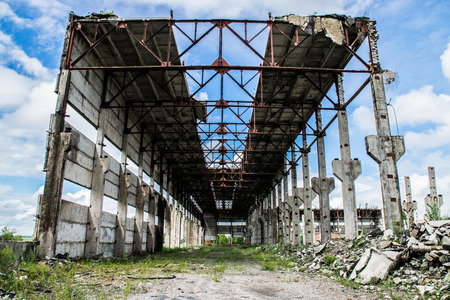 The destroyed building was an abandoned, unused brick factory