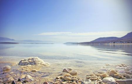 dead sea: Dead Sea landscape pretty clean in the summer day